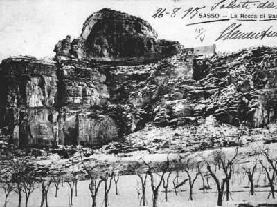 La Rocca di Badolo nell'inverno del 1918