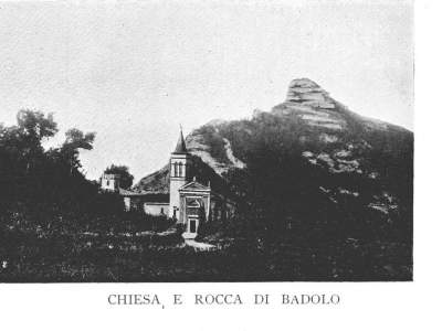 Chiesa e Rocca di Badolo nel 1910