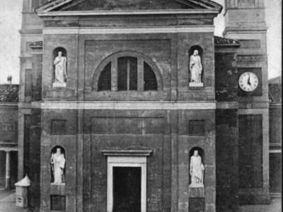 Il Santuario della Madonna del Sasso nel 1901.
