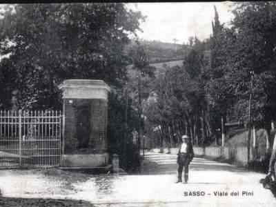 Viale dei Pini nel 1910 e ingresso a villa Somaglia
