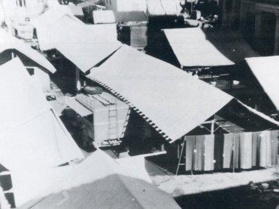 La Fiera nella corte di Palazzo Rossi nel 1982