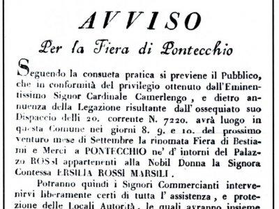 1824 - Manifesto della fiera di Pontecchio
