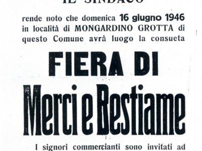 16 giugno 1946 manifesto Fiera di Mongardino Grotta
