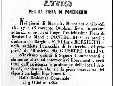 18 giugno 1854 manifesto Fiera del Borgo