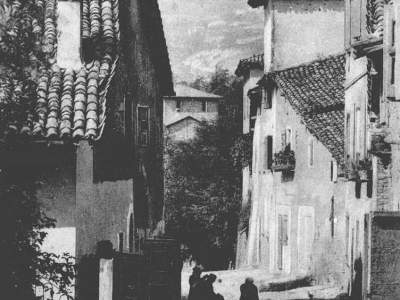 Il borgo Cà dé Gasparri nel 1910