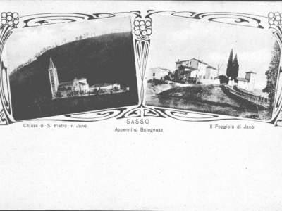 Iano - Veduta della Chiesa e del Poggiolo nel 1896