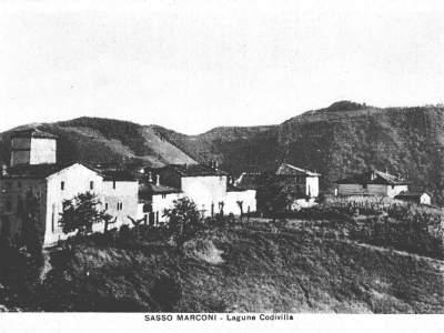 Panorama del Borgo Codivilla nel 1940 - Sasso Marconi