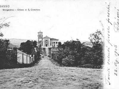 La Chiesa di Mongardino nel 1900 - Sasso Marconi
