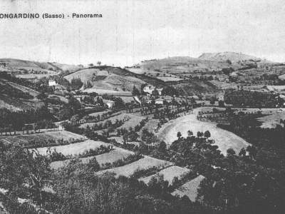 Cartolina panoramica da Mongardino - Sasso Marconi