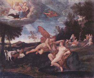 """""""Mercurio e Apollo"""" di Francesco Albani (Galleria Nazionale d'Arte Antica, Roma)"""