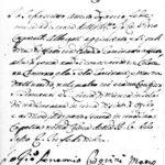 Dichiarazione firmata dal pittore Giovanni Antonio Borini (o Burini)