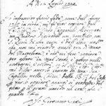 Dichiarazione firmata dal pittore Girolamo Gatti al conte Pirro Capacelli Albergati