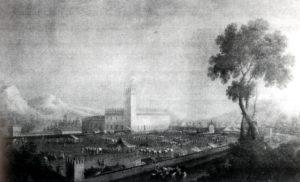 """Dipinto del """"700 che rappresenta Palazzo de' Rossi"""