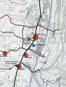 Stralcio della Carta Tecnica Regionale relativa alla zona di Pontecchio