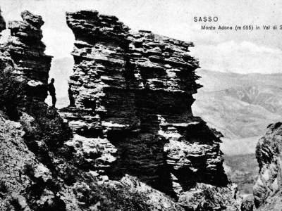 Particolare della cima di Monte Adone nel 1905