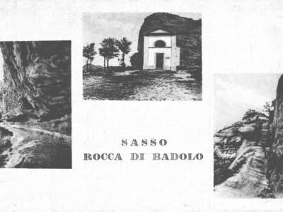 Cartolina con tre particolari di Badolo nel 1930