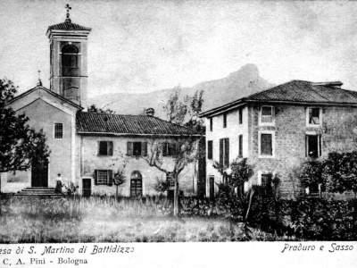 La Chiesa di San Martino a Battedizzo nel 1907