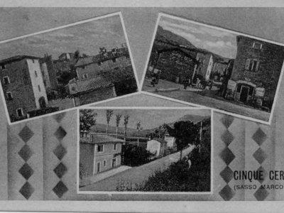 """Veduta del Borgo """"Cinque Cerri"""" nel 1943"""