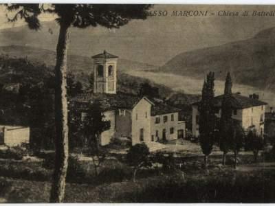 La chiesa di Battedizzo nel 1937