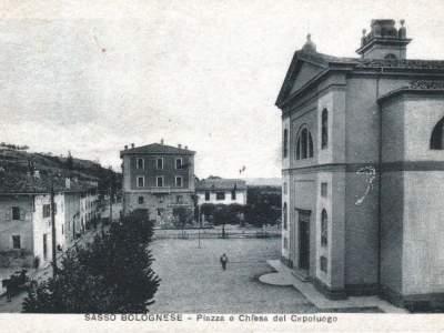 Panorama del centro di Sasso Marconi nel 1931. (Edizione G. Fabbriani)