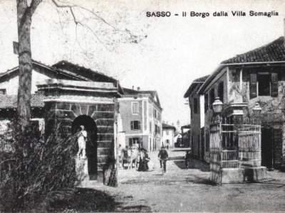 Ingresso di villa Somaglia nel 1913