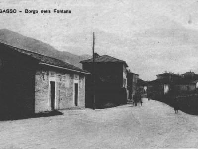 Fontana, ingresso del paese nel 1912