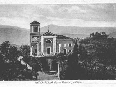 La Chiesa di Mongardino nel 1940 - Sasso Marconi