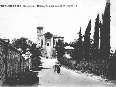 Chiesa arcipetrale di Mongardino nel 1909 - Sasso Marconi