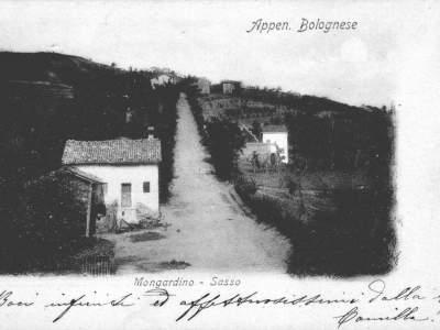 Panorama ripreso dalla chiesa di Mongardino nel 1900 - Sasso Marconi