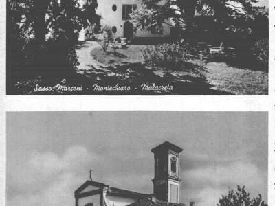 Cartolina di Montechiaro nel 1950 - Sasso Marconi