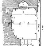 Pianta ipotetica dell'antico santuario della B. V. del Sassodisegnata nel 1984