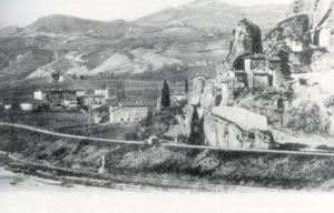cartolina postale d'epoca della Fontana e della Rupe