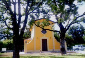 L'Oratorio fu ricostruito nel 1950